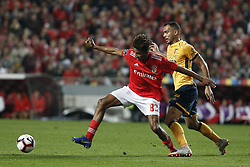 December 23, 2018 - Lisbon, Portugal - Gedson Fernandes of Benfica (L) vies for the ball with Fransergio of Braga (R)  during the Portuguese League football match between SL Benfica and SC Braga at Luz Stadium in Lisbon on December 23, 2018. (Credit Image: © Carlos Palma/NurPhoto via ZUMA Press)