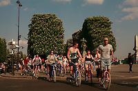 Americans on a bike tour of Paris - Photograph by Owen Franken