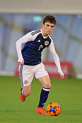 EDINBURGH, SCOTLAND - Friday, November 4, 2016: Scotland's Jamie Semple in action against Republic of Ireland during the Under-16 2016 Victory Shield match at ORIAM. (Pic by David Rawcliffe/Propaganda)
