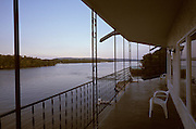 View of the Mississippi River from a balcony Mississippi River Iowa US.