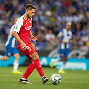 BARCELONA, SPAIN - August 18:  Daniel Carrico #6 of Sevilla in action during the Espanyol V  Sevilla FC, La Liga regular season match at RCDE Stadium on August 18th 2019 in Barcelona, Spain. (Photo by Tim Clayton/Corbis via Getty Images)