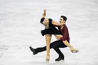 KELOWNA, BC - OCTOBER 26: American figure skaters Madison Hubbell and Zachary Donohue compete in ice dance free dance of Skate Canada International held at Prospera Place on October 26, 2019 in Kelowna, Canada. (Photo by Marissa Baecker/Shoot the Breeze)