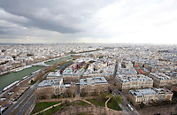Aerial View of Paris, France