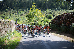 The peloton approaches Northernmost point of  the the 121.5 km road race of the UCI Women's World Tour's 2016 Grand Prix Plouay women's road cycling race on August 27, 2016 in Plouay, France. (Photo by Balint Hamvas/Velofocus)
