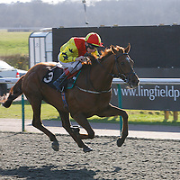 Copper Canyon and Luke Morris winning the 4.00 race