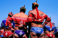 Mongolie, Oulaan Bator, Fête du Naadam, Tournoi de lutte // Mongolia, Ulaan Bator, Naadam festival, Wrestler