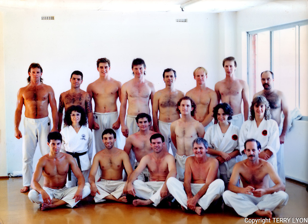 Photographs taken from 1985 to 2009 at various Dojo of Sensei Terry Lyon 5th Dan, Training sessions, Gasshuku with Sensei Graham Ravey 7th Dan,Sensei Morio Higaonna 10th Dan, Cottesloe Dojo. Photographs taken from 1985 to 2009 at various Dojo of Sensei Terry Lyon 5th Dan, Training sessions, Gasshuku with Sensei Graham Ravey 7th Dan,Sensei Morio Higaonna 10th Dan, Cottesloe Dojo.