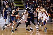 Marco Lagana Aaron Thomas<br /> Virtus Roma - Benacquista Assicurazioni Latina<br /> Campionato Basket LNP 2017/2018<br /> Roma 07/01/2018<br /> Foto Gennaro Masi / Ciamillo - Castoria