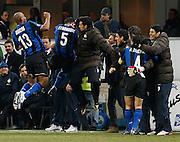 "Dejan Stankovic celebrates scoring.Milano 15/2/2009 Stadio ""Giuseppe Meazza"".Campionato Italiano Serie A.Inter Milan."