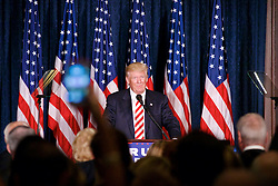 Republican Presidential Candidate Donald Trump <br /> greets voters at a campaign event in Philadelphia, PA.