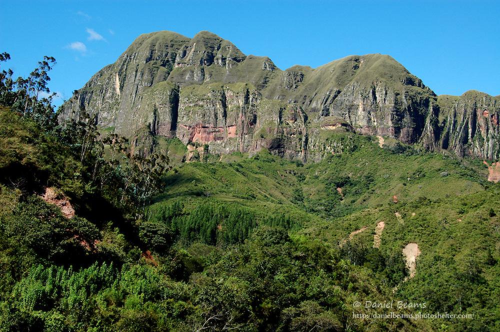 Andes mountains near Las Cuevas in Santa Cruz, Bolivia