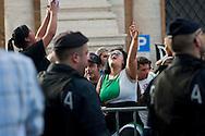 Roma, 27 Setettembre  2012.Manifestazione per il diritto all'abitare e contro la vendita del patrimonio comunale..