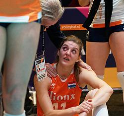 11–01-2020 NED: Semi Final Olympic qualification tournament women Germany - Netherlands, Apeldoorn<br /> First semi final match Germany - Netherlands 3-0 / Anne Buijs #11 of Netherlands, Joop Alberda