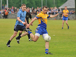 Knockmore's half back Brian Gibbons gets in on the attack during the senior championship match against Westport.