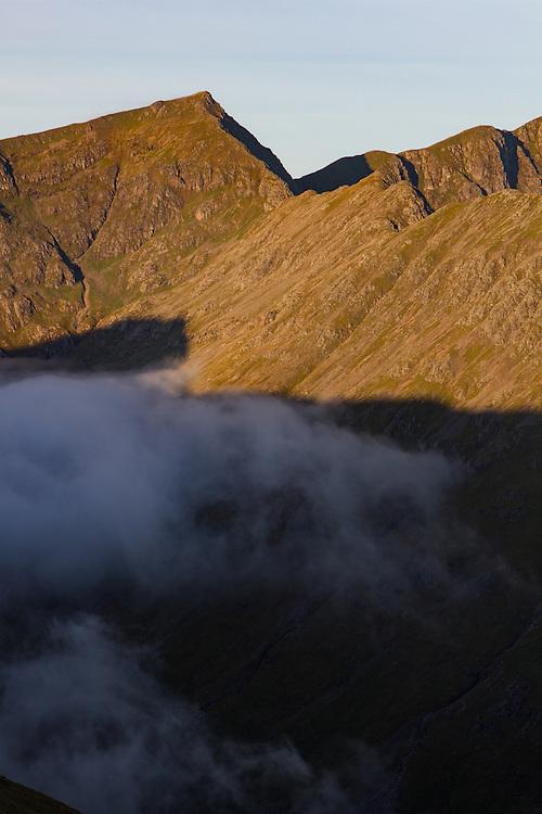 Sunrise over the Beinn Fhada ridgeline in Glenoce
