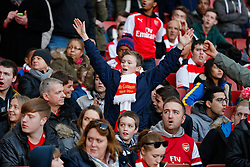 Arsenal supporters  - Photo mandatory by-line: Rogan Thomson/JMP - 07966 386802 - 15/02/2015 - SPORT - FOOTBALL - London, England - Emirates Stadium - Arsenal v Middlesbrough - FA Cup Fifth Round Proper.
