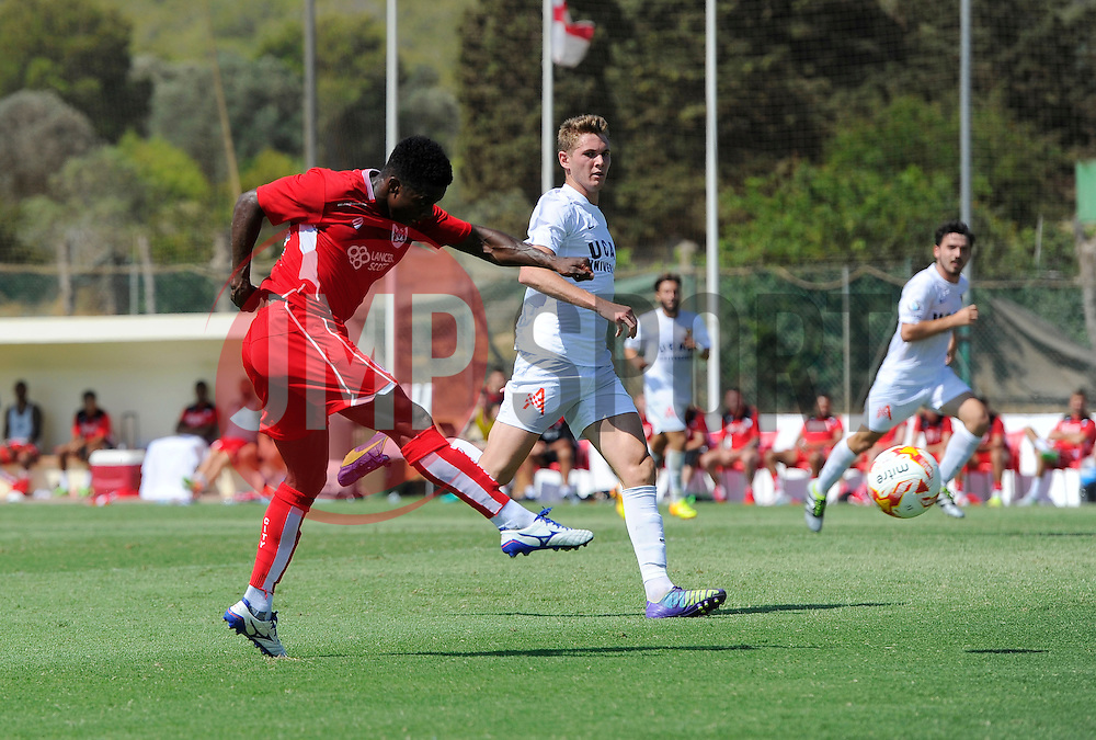 Kieran Agard of Bristol City shoots  - Mandatory by-line: Joe Meredith/JMP - 22/07/2016 - FOOTBALL - La Manga Training Ground - La Manga, Murcia - UCAM v Bristol City - Pre-season friendly
