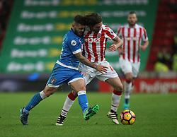 Jack Wilshere of Bournemouth (L) and Joe Allen of Stoke City in action - Mandatory by-line: Jack Phillips/JMP - 19/11/2016 - FOOTBALL - Bet365 Stadium - Stoke-on-Trent, England - Stoke City v Bournemouth - Premier League