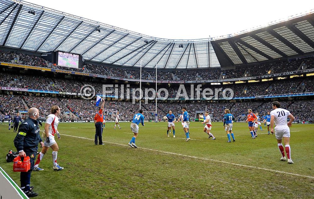 &copy; Filippo Alfero<br /> Londra, Gran Bretagna, 07/02/2009<br /> sport , rugby<br /> Rugby 6 Nazioni 2009 - Inghilterra vs Italia<br /> Nella foto: fasi di gioco<br /> <br /> &copy; Filippo Alfero<br /> London, Great Britain, 07/02/2009<br /> sport , rugby<br /> RBS 6 Nations 2009 - England vs Italy<br /> In the photo: a moment of the match