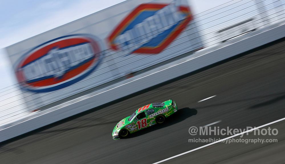 NASCAR JJ Yeley seen on the track during practice for the UAW Daimler-Chrysler 400 at Las Vegas Motor Speedway on March 9, 2007.