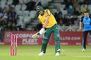 Jake Ball of Nottinghamshire Outlaws batting during the Vitality T20 Blast North Group match between Nottinghamshire County Cricket Club and Worcestershire County Cricket Club at Trent Bridge, West Bridgford, United Kingdon on 18 July 2019.