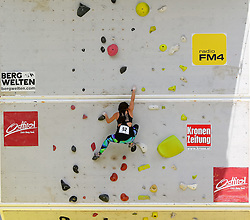 31.07.2015, Mariahilfer Straße, Wien, AUT, ISFC, Free Solo Masters MAHÜ, Vorqualifikation, im Bild Anna Klausner // during the prequalification of the ISFC Free Solo Masters MAHÜ at the Mariahilfer Straße in Vienna, Austria on 2015/07/31. EXPA Pictures © 2015, PhotoCredit: EXPA/ Sebastian Pucher