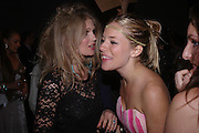 Arabella Tobias and Sienna Miller. The Moet & Chandon Fashion Tribute 2005 to Matthew Williamson,  Old Billingsgate market, London. 16th February 2005. ONE TIME USE ONLY - DO NOT ARCHIVE  © Copyright Photograph by Dafydd Jones 66 Stockwell Park Rd. London SW9 0DA Tel 020 7733 0108 www.dafjones.com