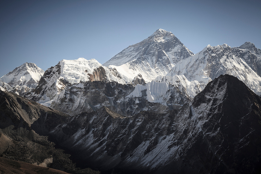 Mount Everest from Gokyo Ri. Sagarmatha National Park. Solukhumbu District. Nepal.