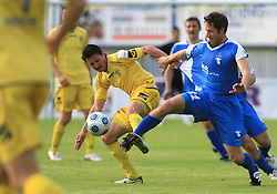 Andraz Kirm vs Matej Mlakar at 32th Round of Slovenian First League football match between NK Domzale and NK Hit Gorica in Sports park Domzale, on May 6, 2009, in Domzale, Slovenia. Gorica won 2:0. (Photo by Vid Ponikvar / Sportida)