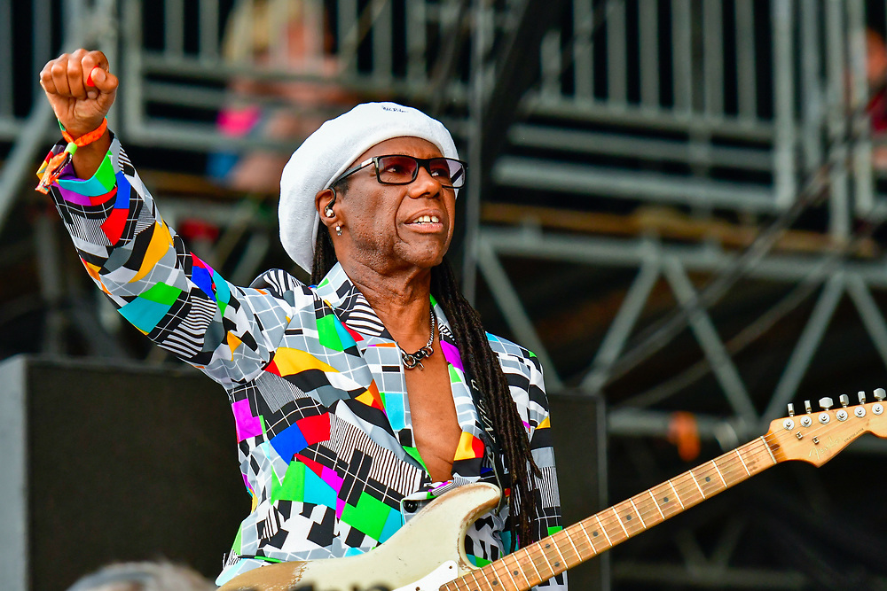 MANCHESTER, TN - JUNE 09: Nile Rodgers and CHIC perform during the 2018 Bonnaroo Music & Arts Festival on June 9, 2018 in Manchester, Tennessee