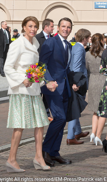 De koninklijke familie is in Zwolle voor de viering van Koningsdag. /// The royal family is in Zwolle for the celebration of King's Day.<br /> <br /> Op de foto / On the photo:   Prinses Marilene en Prins Maurits