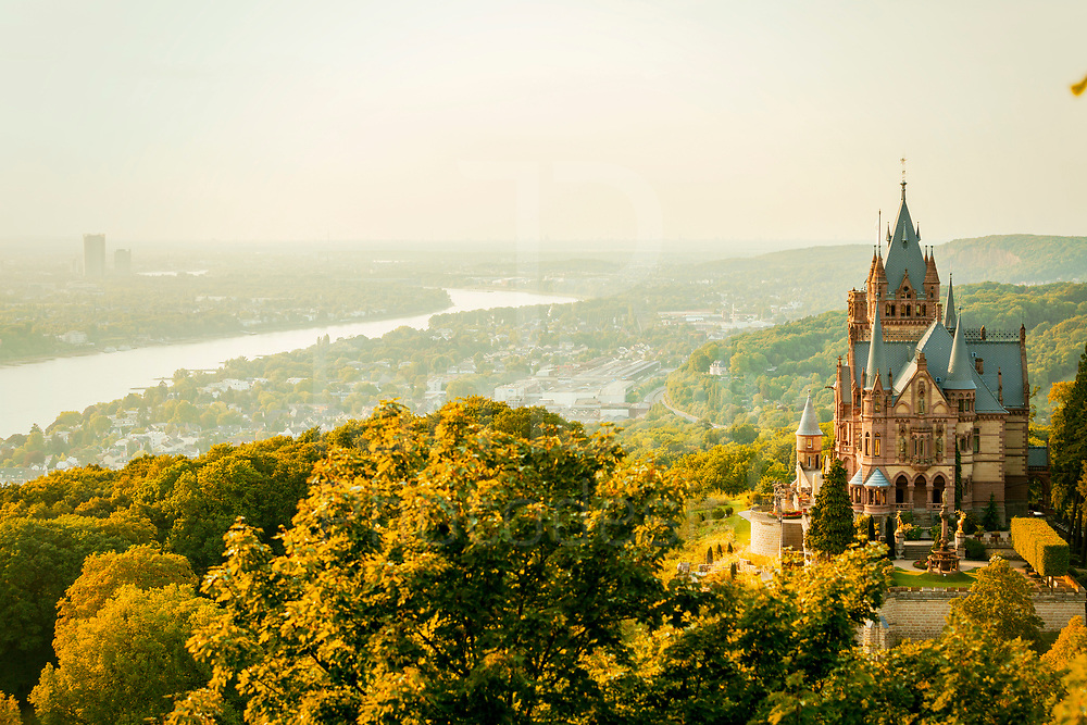 Drachenfels with Bonn in the background