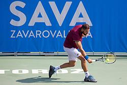 Albano Olivetti (FRA) play against Frederik Nielsen (DEN) at ATP Challenger Zavarovalnica Sava Slovenia Open 2018, on August 6, 2018 in Sports centre, Portoroz/Portorose, Slovenia. Photo by Urban Urbanc / Sportida