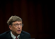 Mar 10,2010 - Washington, District of Columbia USA - .Bill Gates speaks to the Senate Foreign Relations Committee during a briefing on New Directions in Global Health  on Wednesday...(Credit Image: © Pete Marovich/ZUMA Press)