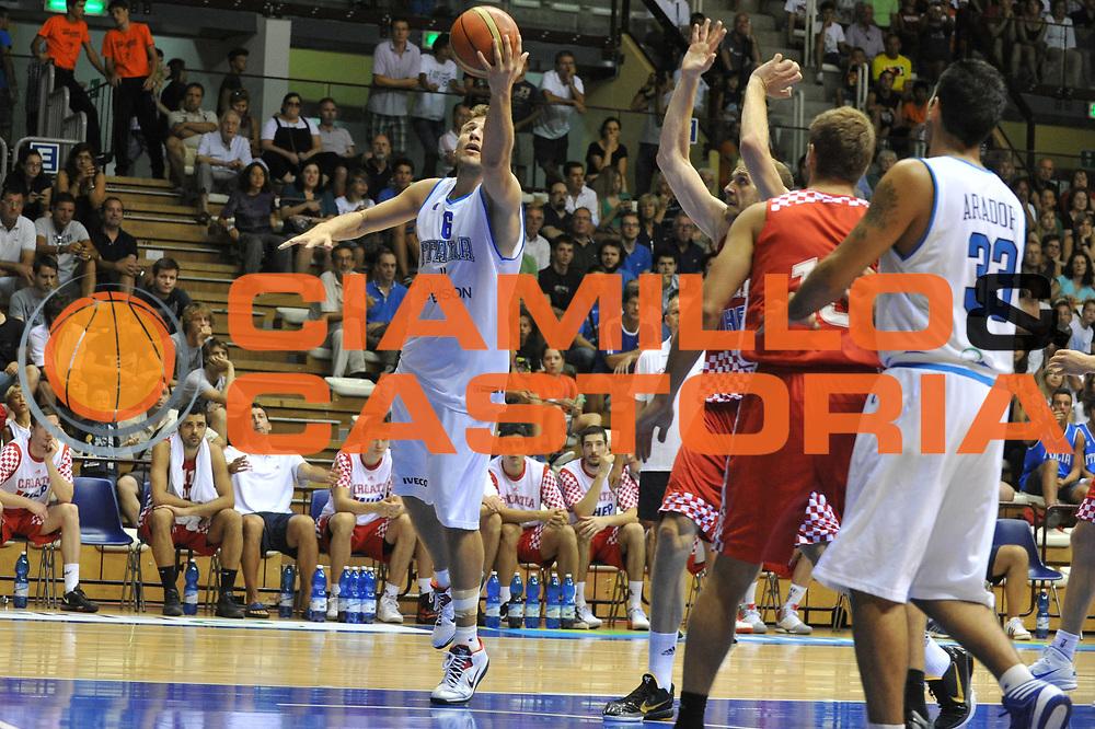 DESCRIZIONE : Trieste Amichevole Italia Croazia<br /> GIOCATORE : stefano mancinelli<br /> CATEGORIA : tiro<br /> SQUADRA : Nazionale Italia Maschile<br /> EVENTO : Amichevole Italia Croazia<br /> GARA : Italia Croazia<br /> DATA : 08/08/2012<br /> SPORT : Pallacanestro<br /> AUTORE : Agenzia Ciamillo-Castoria/M.Gregolin<br /> Galleria : FIP Nazionali 2012<br /> Fotonotizia :  Trieste Amichevole Italia Croazia<br /> Predefinita :