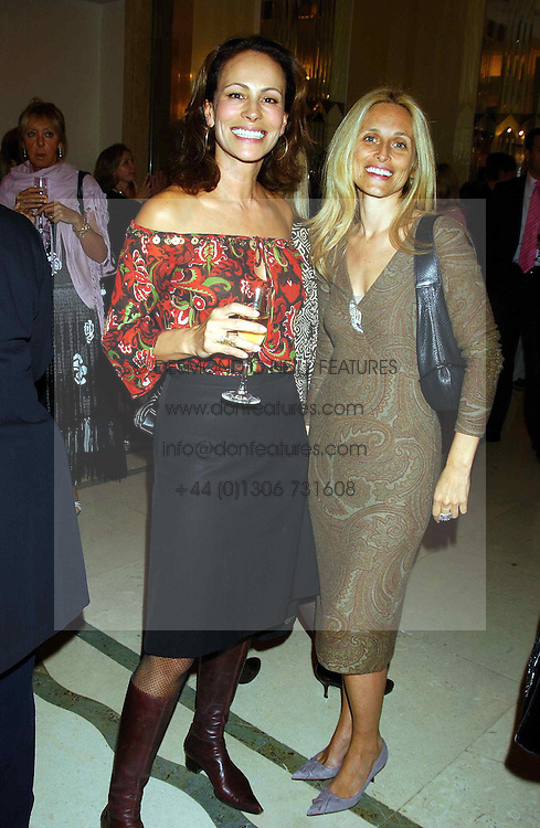 Left to right, ANDREA DELLAL and PIA GETTY sister of Princess Marie Chantal of Greece  at a lunch and fashion show by Bruce Oldfield in aid of Barnados and held at Claridges, Brook Street, London W1 on 22nd September 2004.<br />