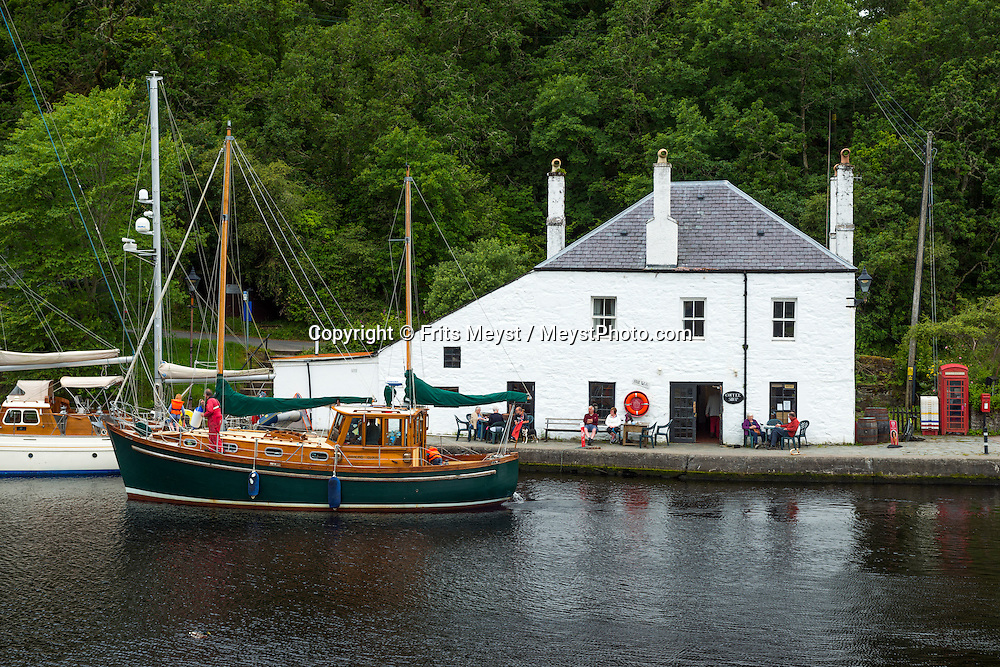 Crinan, Scotland, United Kingdom, July 2015. Locks in Crinan Canal. The Scottish Highlands and wild coastline in combination with the dramatic weather patterns make the region a great outdoor adventure destination for the whole family. photo by Frits Meyst / MeystPhoto.com