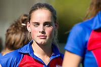 BILTHOVEN - Famke Richardson van SCHC , zondag tijdens de hoofdklasse competitiewedstrijd tussen de vrouwen van SCHC en MOP (5-0). COPYRIGHT KOEN SUYK