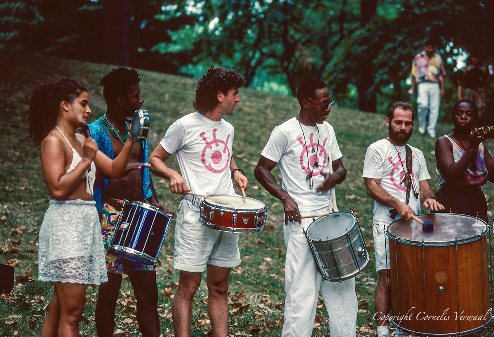 Drummers in Central Park, New York City, 1991