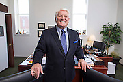 FAYETTEVILLE, ARKANSAS:  Steve Clark, head of the Fayetteville, Arkansas Chamber of Commerce.  Photographed for Northwest Arkansas Business Journal at the new Chamber offices on the Square