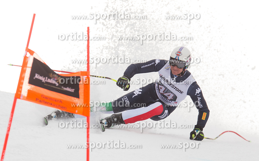 28.01.2016, Kandahar, Garmisch Partenkirchen, GER, FIS Weltcup Ski Alpin, Abfahrt, Herren, 1. Training, im Bild Siegmar Klotz (ITA) // Siegmar Klotz of Italy competes in his 1st training run for the men's Downhill of Garmisch FIS Ski Alpine World Cup at the Kandahar course in Garmisch Partenkirchen, Germany on 2016/01/28. EXPA Pictures © 2016, PhotoCredit: EXPA/ Johann Groder