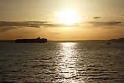 Sunset off Puget Sound