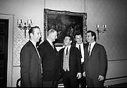 The Clancy Brothers meet  President Eamon de Valera at Áras an Uachtarain..15.01.1964