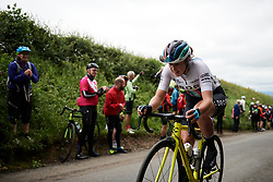 Hannah Payton (GBR) on the category one climb at Stage 3 of 2019 OVO Women's Tour, a 145.1 km road race from Henley-on-Thames to Blenheim Palace, United Kingdom on June 12, 2019. Photo by Sean Robinson/velofocus.com
