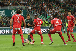 September 22, 2018 - Saint Etienne - Stade Geoffroy, France - Mathieu Debuchy (saint etienne) vs Claudio Beauvue  (Credit Image: © Panoramic via ZUMA Press)