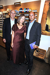 Left to right, PETER & JULIET KINDERSLEY and BARNABAS KINDERSLEY at the Natural Beauty Honours 2008 hosted by Neal's Yard Remedies, 124b King's Road, London SW3 on 4th September 2008.<br /> <br /> NON EXCLUSIVE - WORLD RIGHTS
