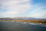 BORTH, WALES, UK 17TH MARCH 2020 - View over Borth,and Ynyslas coastal villages, County of Ceredigion, Mid Wales, UK.