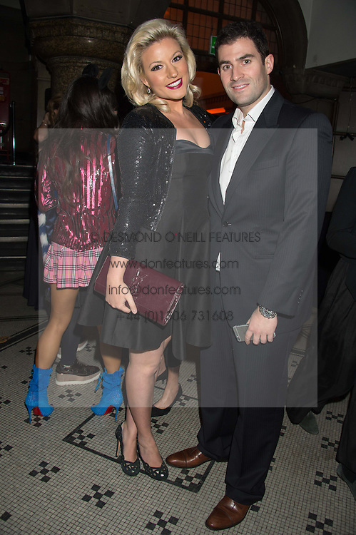 NATALIE COYLE and ZAFAR RUSHDIE at the Veuve Clicquot Widow Series launch party hosted by Nick Knight and Jo Thornton MD Moet Hennessy UK held at The College, Central St.Martins, 12-42 Southampton Row, London on 29th October 2015.