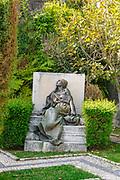 "Statue  ""A Dor"" (Pain) by portuguese sculptor Antonio Teixeira Lopes at Jardins do Palacio de Cristal (Crystal Palace Gardens), Porto, Portugal"