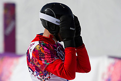22.02.2014, Rosa Khutor Extreme Park, Krasnaya Polyana, RUS, Olympia Sochi 2014, Snowboard Parallelslalom Herren, im Bild Simon Schoch (SUI) enttaeuscht // during the Olympic Winter Games Sochi 2014 Rosa Khutor Extreme Park in Krasnaya Polyana, Russia on 2014/02/22. EXPA Pictures © 2014, PhotoCredit: EXPA/ Freshfocus/ Urs Lindt<br /> <br /> *****ATTENTION - for AUT, SLO, CRO, SRB, BIH, MAZ only*****